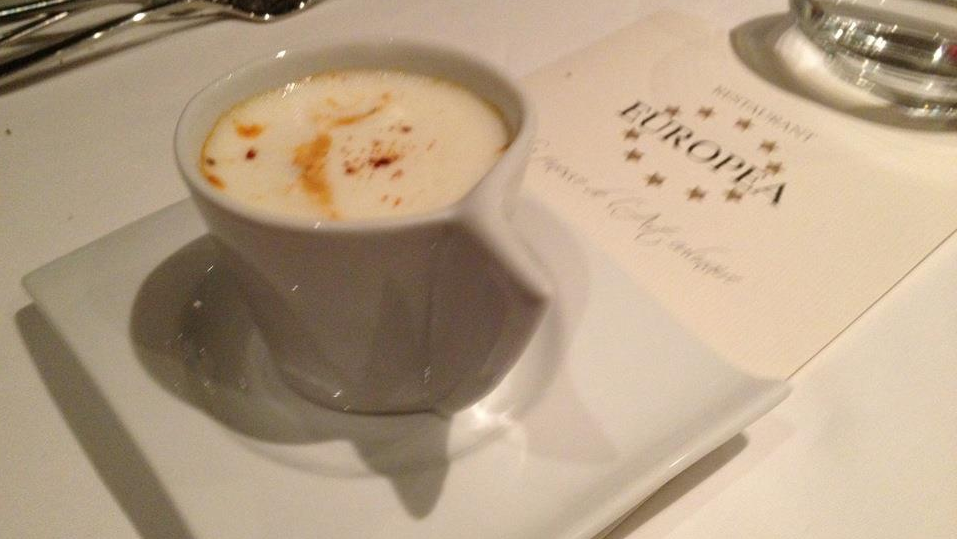 Lobster capuccino at Europea!