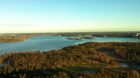 Photo by Sean Naughton, view from Kaknästornet
